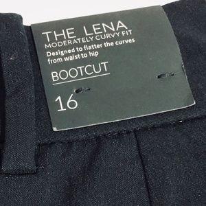 NWT Lane Bryant Lena Bootcut Trouser Black